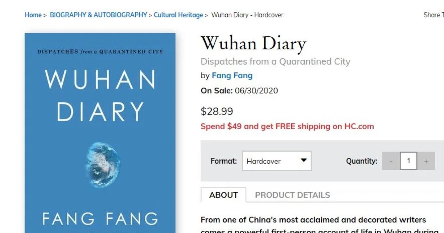 30 million de $ donné à l'OMS par la Chine, l'écrivaine chinoise Fang Fang face des menaces de mort