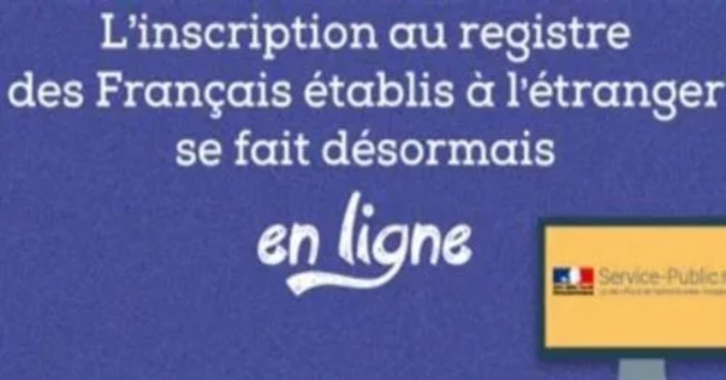 Inscription au registre consulaire