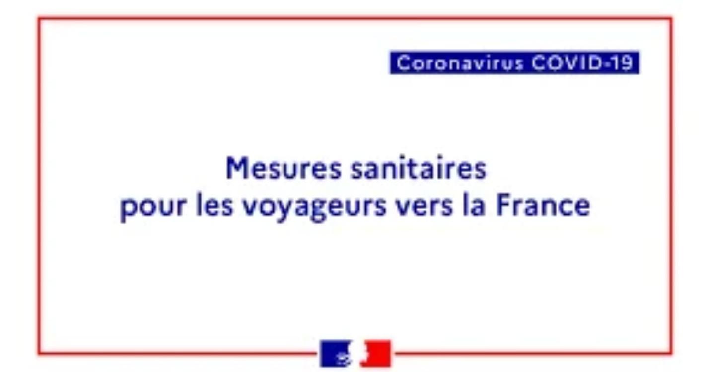 Nouvelles mesures pour l'entrée en France