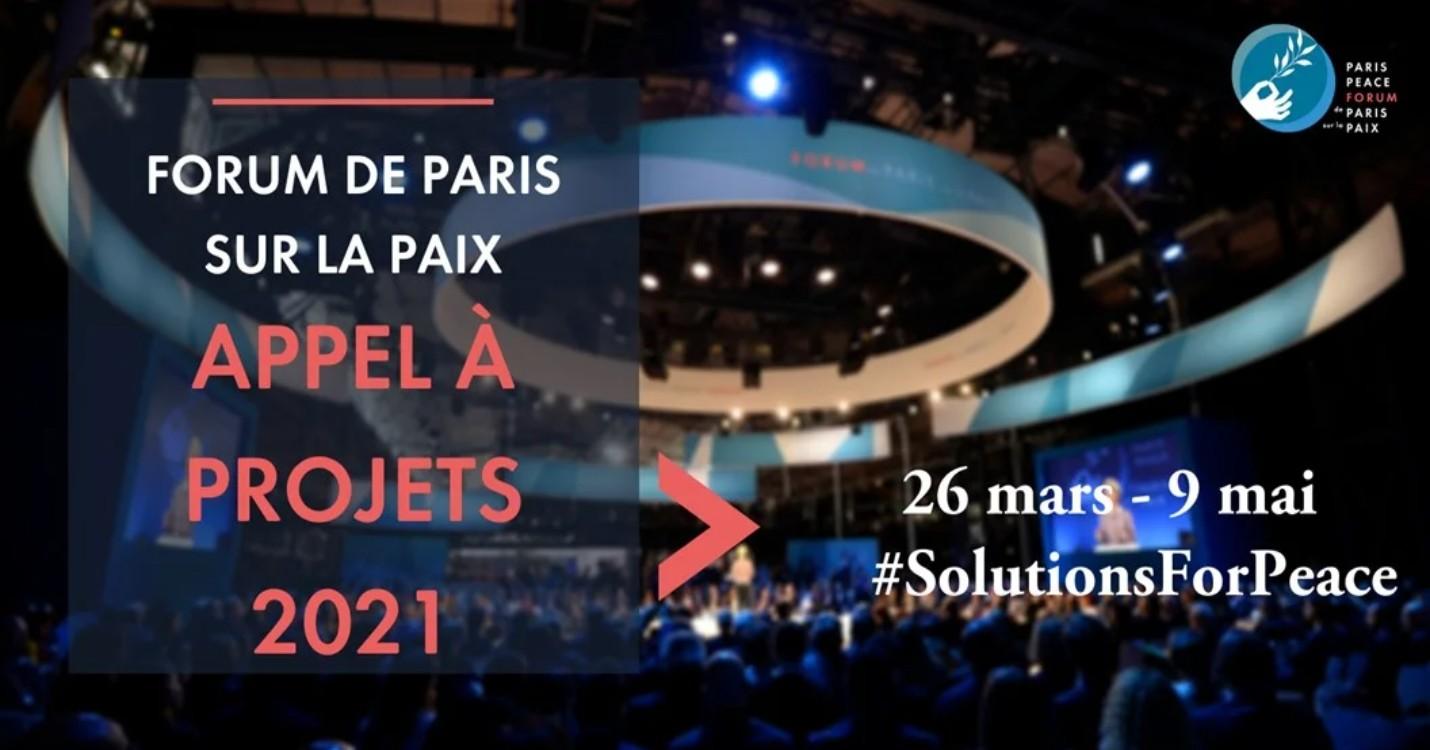 Forum de Paris sur la Paix – Appel à projets 2021