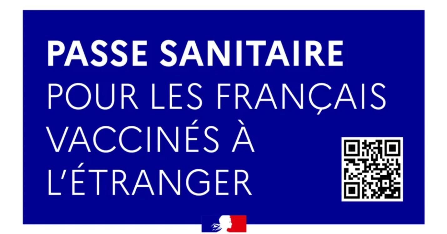 Passe sanitaire – Délivrance d'un QR code pour les Français de l'étranger vaccinés en France