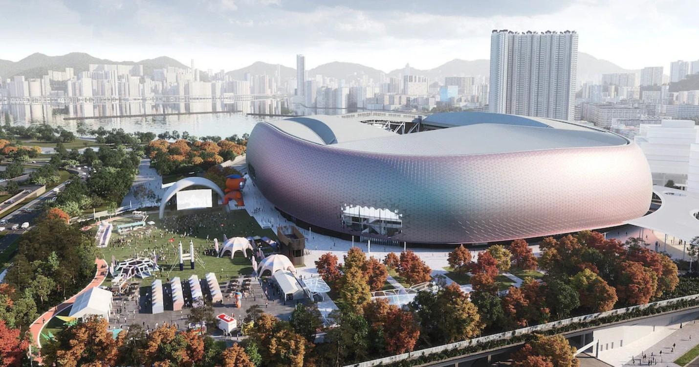 Les travaux du parc sportif de Kai Tak, 1ère usine chinoise de vaccins anti-covid-19 d'Europe